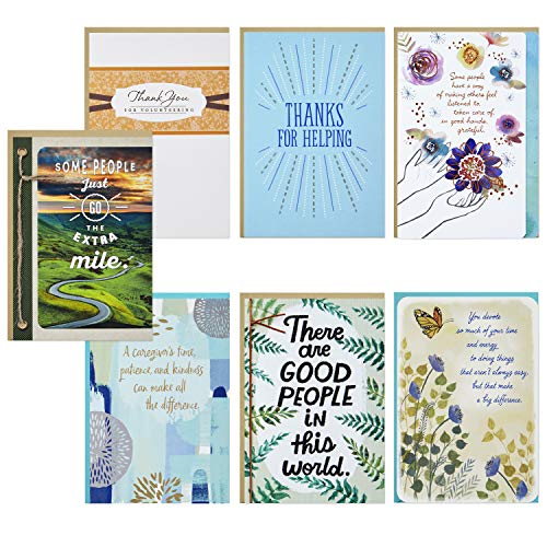Hallmark Special Connections Thank You Card Assortment for Caring Connectors (7 Cards with Envelopes)