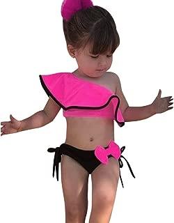 Toddler Kids Baby Girls Fungus Letter Print Swimsuit Bikini Swimwear Bathing Suit Swimming Costume Bathing Beachwear HEETEY Girls Swimming Costume