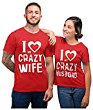 Couples Shirts Husband And Wife Shirts for Couples His And Hers Matching Set Man Red Medium / Woman Red Small