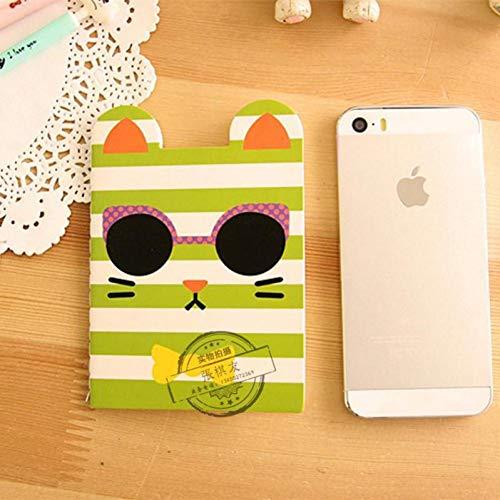 Mini cuaderno Kawaii oficial, diario, bloc de notas, para niños, papelería, escuela, regalo de papelería, oficina, Freebie Black Cat Panda, color aleatorio