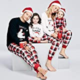 Conjunto de pijamas de Navidad para adultos y niños, con aspecto familiar, ropa a juego, ropa de dormir para padre madre y mí (color: bebé 10 12 m 90)