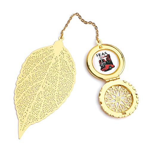 Fear This American Muscle Car Vintage and Beautiful Leaf Bookmarks, Metal Leaf and Exquisite Pattern Pendants
