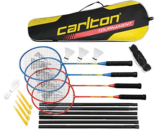 Carlton 4-Spieler Badminton-Turnier-Komplett Set-Spaß für die gesamte Familie im Garten oder im park