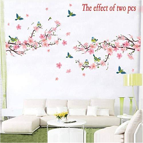 ZXL Sakura Muurstickers voor kinderkamer, slaapkamer, woonkamer, kunst, knutselen, PVC, mooie boom, bloemen, papier, afneembaar, decoratie voor thuis, nieuw