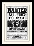 HARRY POTTER-Motiv, 40 x 30 cm Bellatrix Wanted Gerahmter