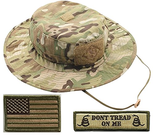 Gadsden and Culpeper Operator Boonie Hat Bundle & Patches - USA/DTOM Multitan