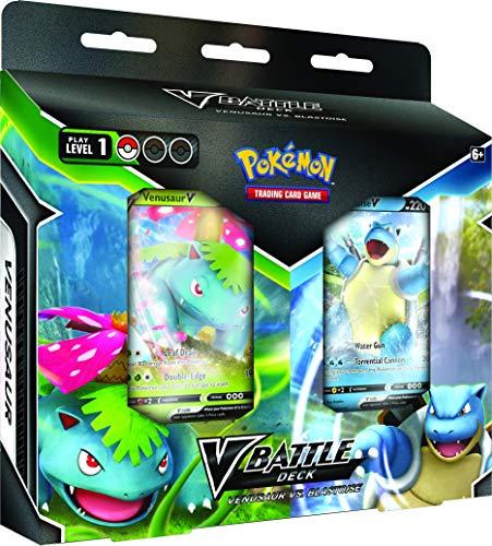 Pokémon POK818417 TCG: Blastoise V & Venusaur V Battle Deck Bundle, gemischte Farben