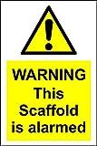 Advertencia este andamio es alarmarse señal–3mm aluminio señal 400mm x 300mm