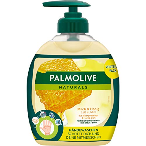 Palmolive Seife Naturals Milch und Honig 12er Pack (6x Flasche mit Pumpe und 6x Nachfüllflasche)