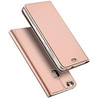 DUX DUCIS Funda Huawei P10 Lite, Skin Pro Series Ultra Slim Layered Dandy, Pata De Cabra,Magnetico, TPU Parachoques, Protección De Cuerpo Completo para Huawei P10 Lite (Oro Rosa)