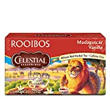 Celestial Seasonings African Red Herbal tea, Rooibos Madagascar Vanilla, 20 Count Box (Pack of 6)