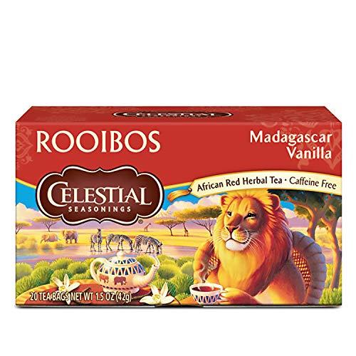 Celestial Seasonings Rooibos Tea, Madagascar Vanilla, 20 Count (Pack of 6)