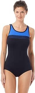 Gabar Chlorine Resistant Hydrofinity Black Light Stream C-Cup Laser Cut High Neck One Piece Swimsuit Size 10C