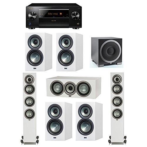 Amazing Deal ELAC Uni-Fi Slim White 7.1 System with 2 FS-U5 Floorstanding Speakers, 1 CC-U5 Center S...