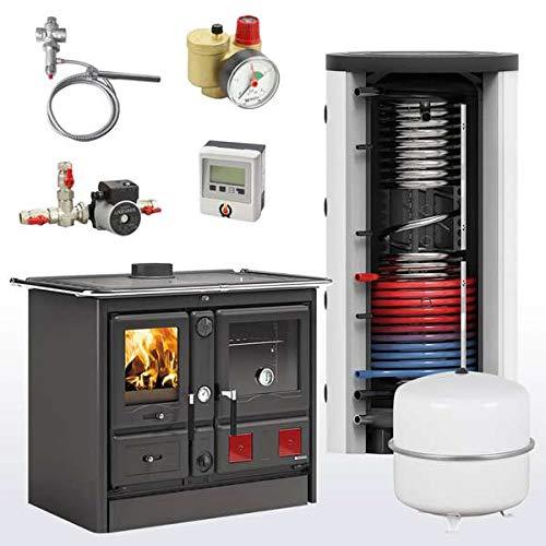 Komplettset Wasserführender Küchenofen La Nordica TermoRosa XXL DSA + 800 Hygienespeicher inkl. 1 Wärmetauscher
