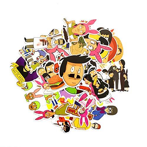 Cartoon Happy Burger Shop Equipaje Trolley Maleta Maleta Pegatinas de Graffiti Cuaderno Dead Fly...