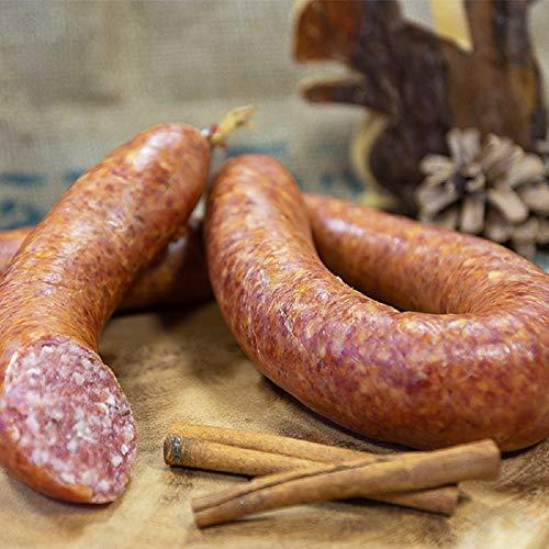 Harzer Bratwurst mit Kümmel im Ring | Harzer Rohwurstspezialität | Perfekte Brotzeit für unterwegs | Knackwurst