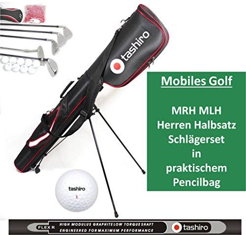 GOLF-SET Herren Linkshänder Rechtshänder Auswahl | Stand-Bag + 5 Golf-Schläger + Zubehör | Komplettset inkl. pencilbag 14/15