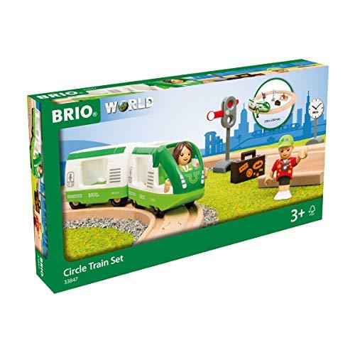 BRIO World 33847 Starter Set Reisezug - Einstieg in die BRIO Holzeisenbahn - Empfohlen ab 3 Jahren