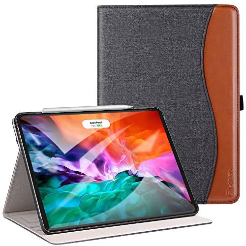 ZtotopCase Hülle für Neu iPad Pro 12.9 2020(iPad 4. Generation),Premium Leder Leichte Geschäftshülle mit elastischer Stifthalter,Mehrfachwinkel,Kartensteckplatz,für iPad 12,9