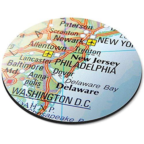 Runde Mausunterlage - Ostküsten-Karten-USA-Amerika-Büro-Geschenk