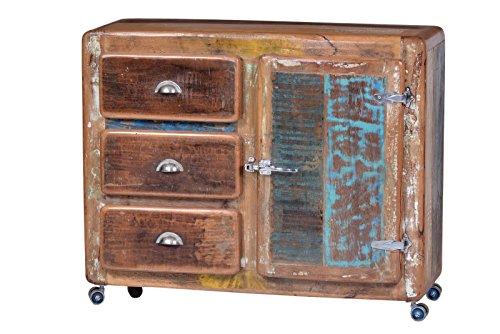 SIT-Möbel Fridge 2609-98 Kommode, recyceltes Altholz, bunt lackiert
