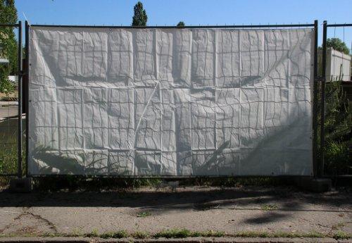 (0,77EUR/m²) 1x Bauzaunplane Zaunblende 150g/m² 1,76x3,41m weiß