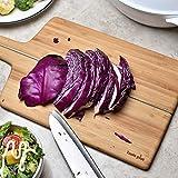 DYOYO Tagliere Grande da Cucina - Tagliere Professionale Rettangolare e Rustico con Il Solco del Succo per Frutta, Verdura e Carne Il Migliore per Carni, Verdure e Formaggio