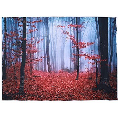 Raitron 5x7FT Vinyl Herbst Ahorn Wald Fotografie Hintergrund Studio Prop