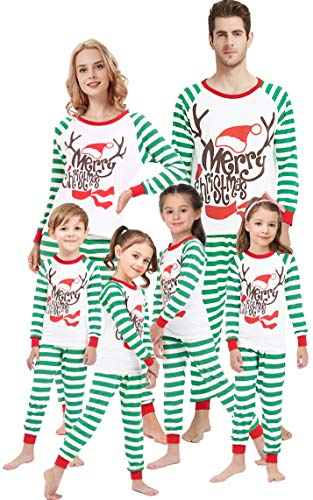 Matching Family Pajamas for Girls Merry Christmas Deer Boys Pjs Mum and Me Sleepwear Baby Clothes Kids Pyjamas Men L