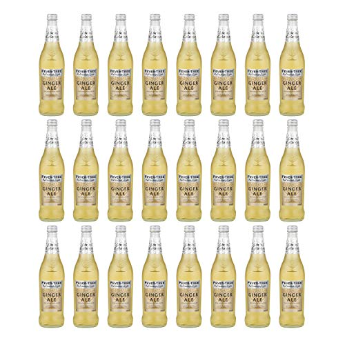 Fever Tree Refreshingly Light Ginger Ale - Botella de cristal (500 ml, 24 unidades)