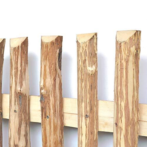 BooGardi Zaunlatten aus Haselnuss • Zaunbretter 5cm x 140cm zum Selbstbauen von Holzzaun, Lattenzaun, Staketenzaun BZW. Kastanienzaun