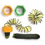 SUVERO Cortador de Verduras Espiral Cortador calabacines pepinos de plástico en Color Naranja o Verde