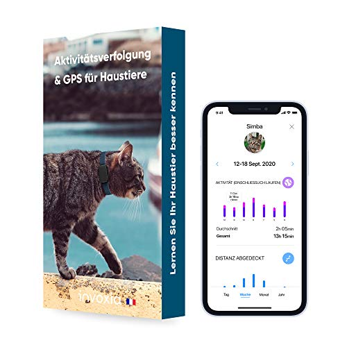 Invoxia Pet Tracker - GPS-Tracker Für Katzen Und Hunde Mit Aktivitätverfolgung -...