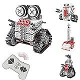 JUGUETECNIC │ Kit de robots 4 en 1   Robótica STEM teledirigidos para montar │ Juguetes de construcción para niños │ 233 piezas