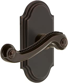 Grandeur 822539 Arc Plate Privacy with Newport Lever in Timeless Bronze, 2.375