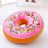 Oulensy 1pc Ronda Donut Volver Relleno Amortiguador del Tiro Almohada De Felpa De Juguete De Juego De Asiento De La Silla De Oficina De Coches