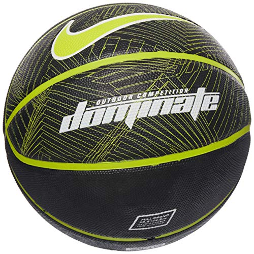Nike Dominate 8P Full Size Basketball (Black/Volt)
