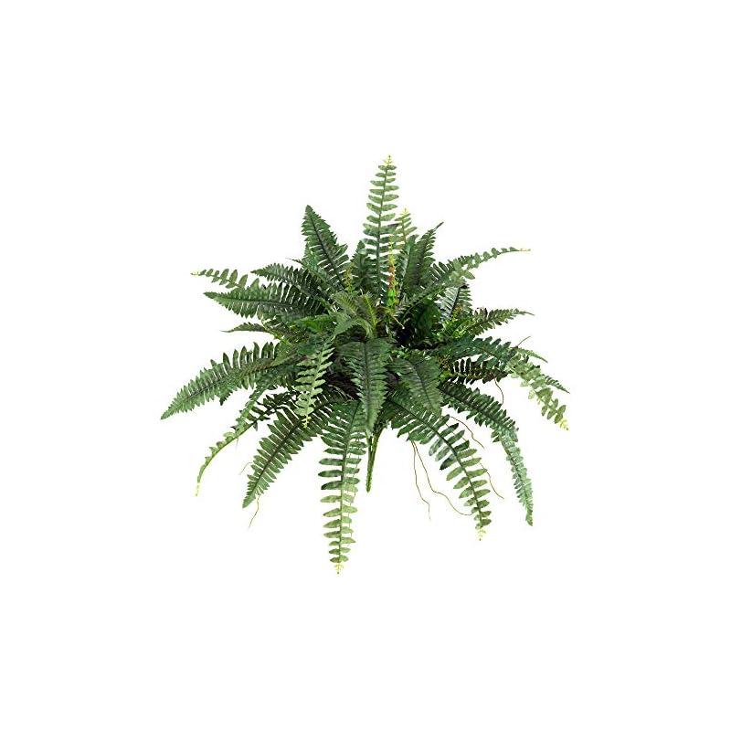 silk flower arrangements nearly natural 40in. boston fern (set of 2) artificial plant, green, 2 piece