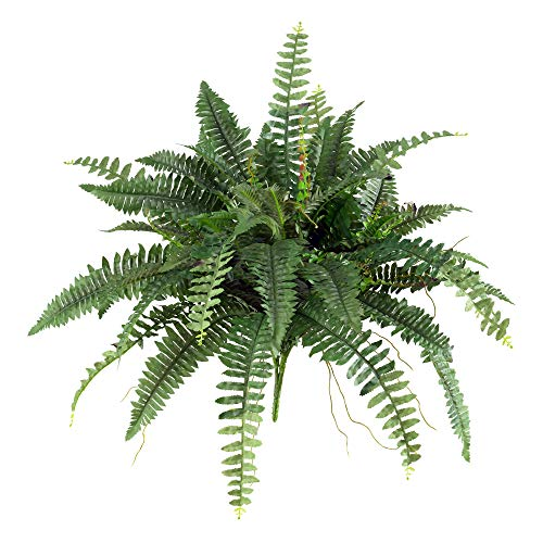 Nearly Natural 40in. Boston Fern (Set of 2) Artificial Plant, Green, 2 Piece