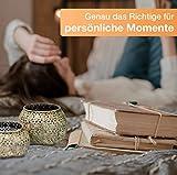 Flanacom Orientalische Vintage Teelichthalter Orientalisches Marokkanisches Windlicht antikfarben aus Metall - Dekoration für die Wohnung - 2 Windlichter ohne Tablett - 6