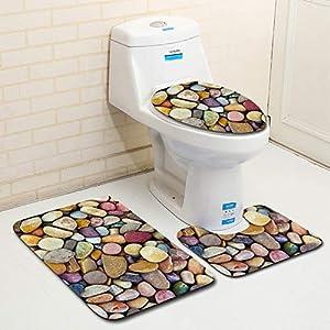 Clearance Sale!DEESEE(TM)????????3pcs Stone Non-Slip Fish Scale Bath Mat Bathroom Kitchen Carpet Doormats Decor (G)