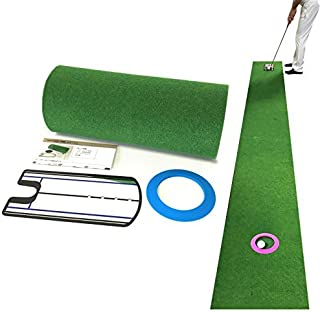 Danact ゴルフ練習 パターマット セット / 3m / 4m / 5m / シリコンパターカップ/パター練習器具 セット 単品
