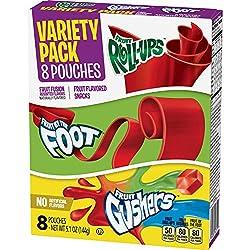 Betty Crocker Fruit Snacks Variety Pack, Fruit Gushers, 5.10 Ounce