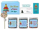 SMARTY BOX Caja Regalo Caramelos y Gominolas Navidad, Surtido Chuches, Chucherías sin Gluten, Caja...