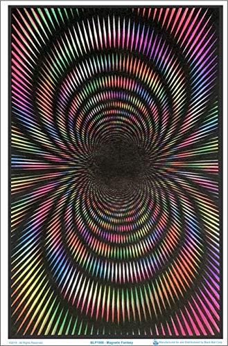 (24x36) Magnetic Fantasy - Circles, Flocked Blacklight Poster Print