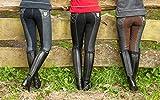 HKM Pantalon d'équitation pour Femme Miss Blink FR:42 Bleu Jeans/Bleu foncé