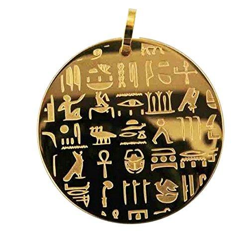 Schmuck Ägypten Antik wunderschöne Anhänger hiéroglyphe (Schiff)) mit Schreiben Figurative und seine Kette. Anhänger sehr original und Ästhetik.