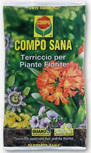 Compo - Sustrato de calidad Campo Sana, para plantas con flores, envas