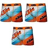 KTM PK1568-L Set 3 Boxer Microfibra (92% poliéster-8% Elastano) -Multicolor, Pack De 03 Pk1568, L para Hombre